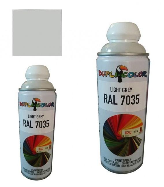 اسپری رنگ خاکستری روشن RAL 7035 حجم 400 رنگ اکریلیک دوپلی کالر Dupli-Color LIGHT GRAY