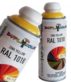 اسپری رنگ زرد زینک RAL 1018 حجم 400 رنگ اکریلیک دوپلی کالر