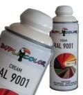 اسپری رنگ کرم اکریلیک RAL 9001 دوپلی کالر