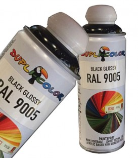 اسپری رنگ مشکی براق RAL 9005 دوپلی کالر