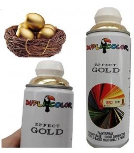 اسپری رنگ طلایی براق حجم 400 رنگ اکریلیک دوپلی کالر