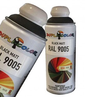 اسپری رنگ مشکی مات RAL 9005 دوپلی کالر