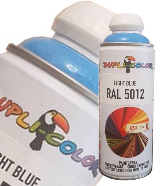 اسپری رنگ آبی روشن حجم 400 رنگ اکریلیک RAL 5012 دوپلی کالر
