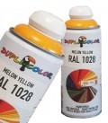اسپری رنگ زرد ملون کاترپیلاری اکریلیک RAL 1028 دوپلی کالر