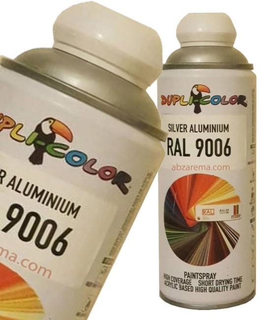 اسپری رنگ نقره ای مات افکت آلومینیوم حجم 400 رنگ اکریلیک دوپلی کالر