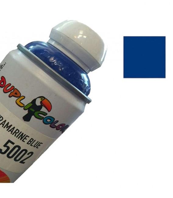 اسپری رنگ آبی سیر RAL 5002 حجم 400 رنگ اکریلیک دوپلی کالر
