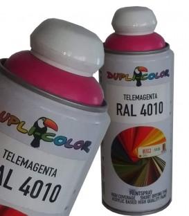 اسپری رنگ سرخابی RAL 4010 رنگ اکریلیک دوپلی کالر