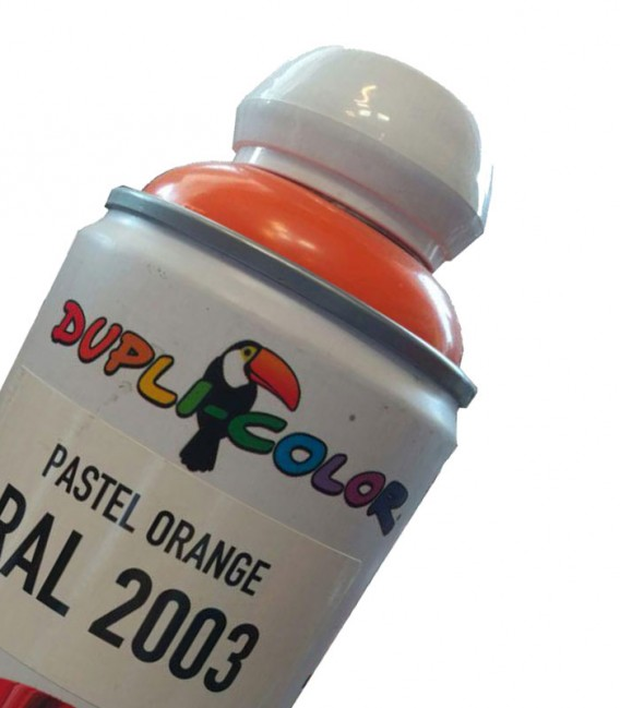 اسپری رنگ نارنجی RAL 2003 رنگ اکریلیک دوپلی کالر