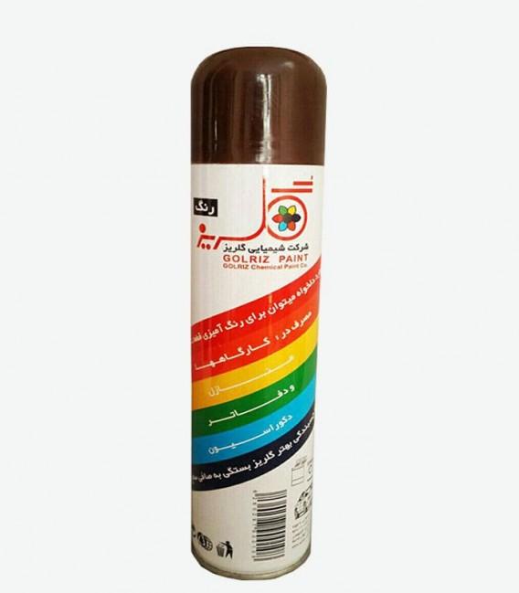 اسپری رنگ قهوه ای سوخته گلریز رنگ روغنی فروشگاه اینترنتی ابزارما