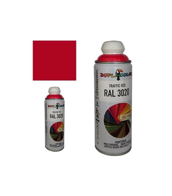اسپری رنگ قرمز ترافیکی RAL 3020 حجم 400 رنگ اکریلیک دوپلی کالر